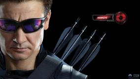 The Avengers &#8211; Jeremy Renner As Hawkeye Wearing Goggles